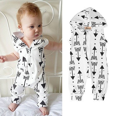 2017 Newborn Infant Baby Cotton Romper Hooded Jumpsuit Boys Girls Clothes Outfits One-Pieces Clothing cotton i must go print newborn infant baby boys clothes summer short sleeve rompers jumpsuit baby romper clothing outfits set