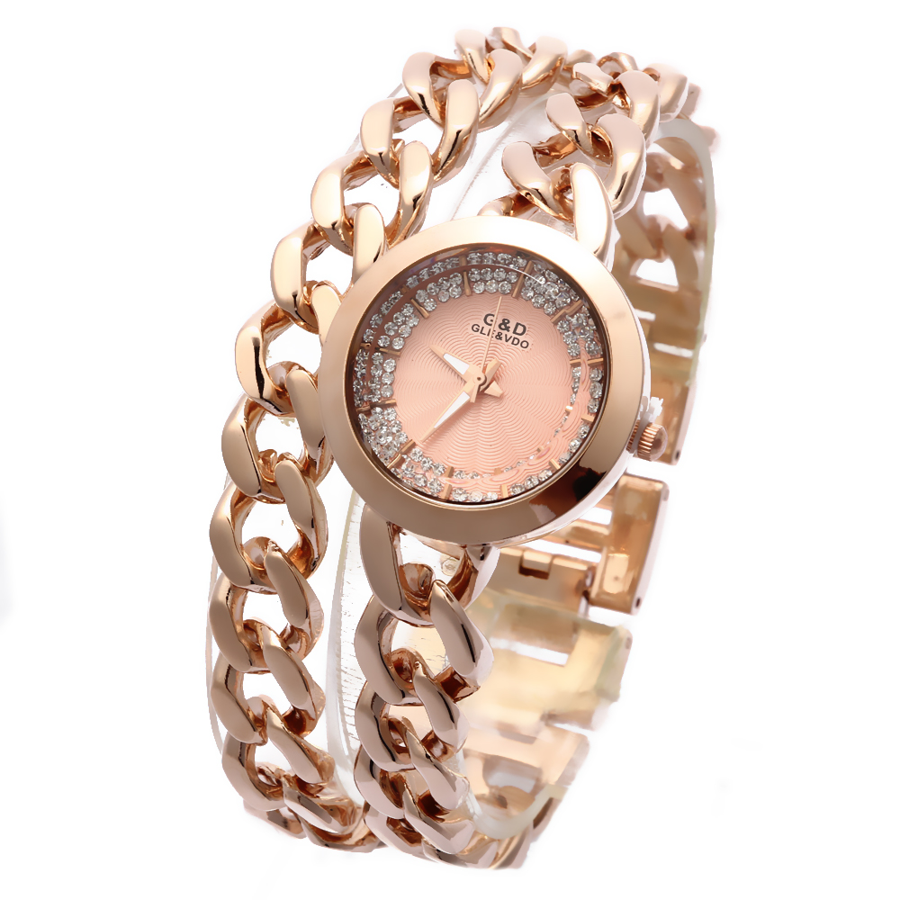 2016 New Fashion Women Watch Women' Wrist Watch Quartz Watches Analog Stainless Steel Bracelet Luxury Gifts for Ladies Rose Gold 2016 new ladies fashion watches decorative grape no word design gold watch stainless steel women casual wrist watch fd0107