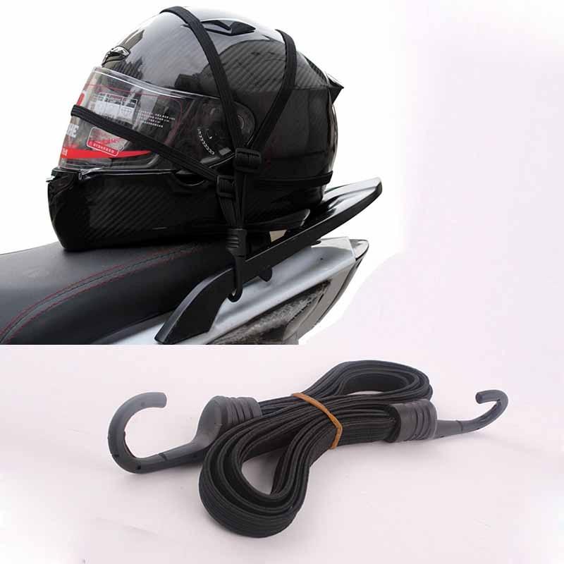 MAYITR Universal 60cm Motorcycle Luggage Mesh Strap Fixed Elastic Buckle Rope Helmet Net Bandage Black