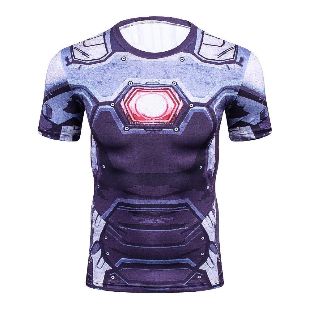 Newest Batman 3D PrintedT-Shirt Men  Compression Shirt 3