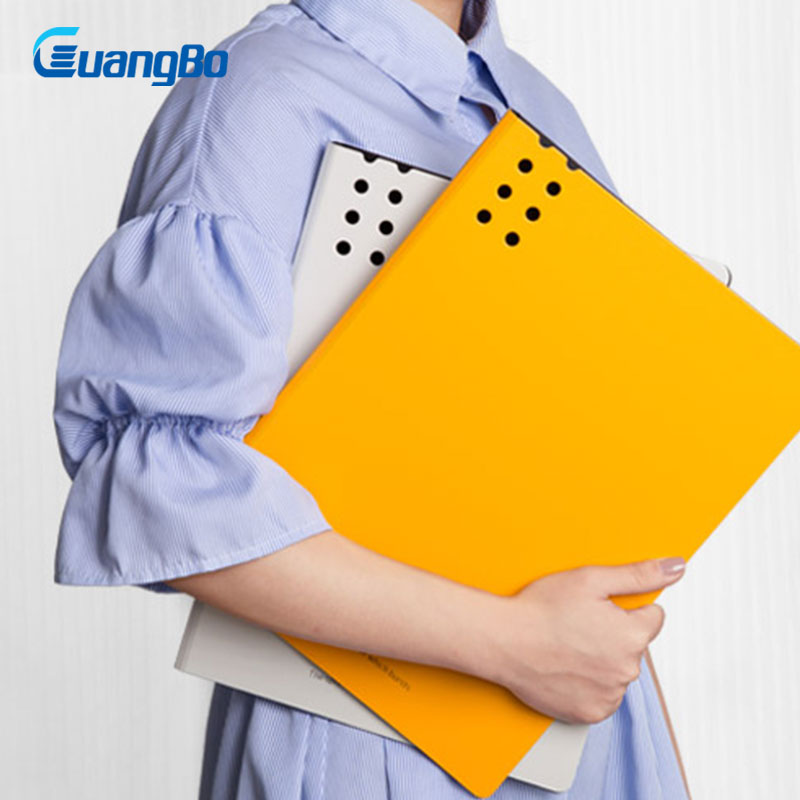 GUANGBO Waterproof File Holder Office School Supplies Clip Filing Folder Clipboard 6 Colors Paper Data Book Clip Holders coloffice 1pc colorful multi function file folder wordpad clipboard clip filing production folder file document school office