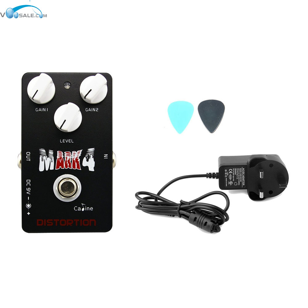 Caline CP-16 Mr Mark Distortion Guitar Effect Pedal With True Bypass+AC100V-240V to DC9V/1A Adapter Use Have AU UK US EU Plug caline cp 26 guitar effect pedal snake bite reverb effect pedals true bypass design with delay effect no coloring sound