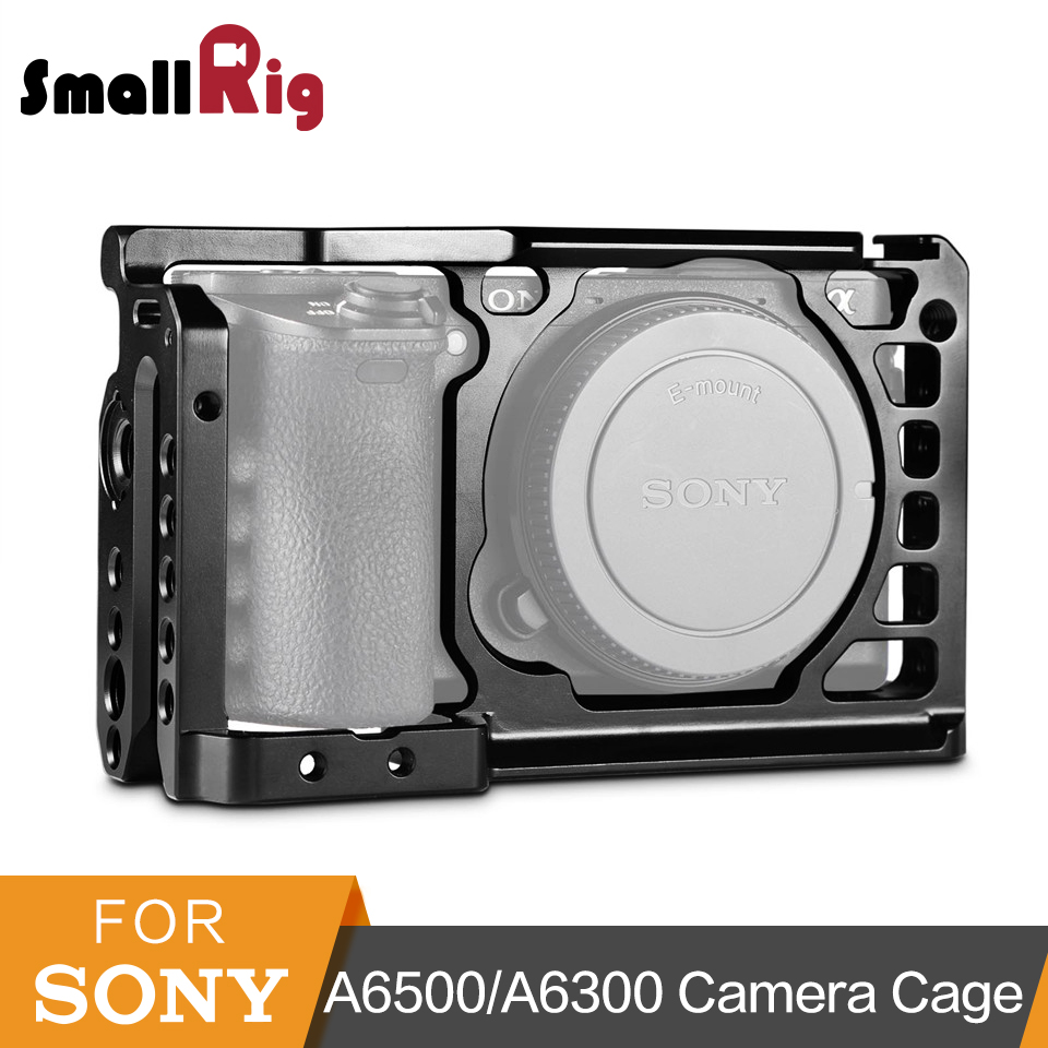 цена на SmallRig Aluminum Alloy Camera Cage For Sony A6500/A6300 Upgraded Version Protective Dslr Camera Rig For Sony A6500 -1889