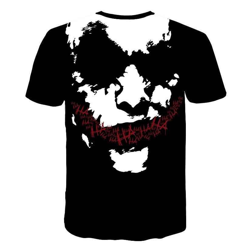 Мужской и Женский пуловер, футболка, популярные герои фильма, 3d принт, Джокер, короткий рукав Харадзюку, стильная футболка, большие размеры M-5XL