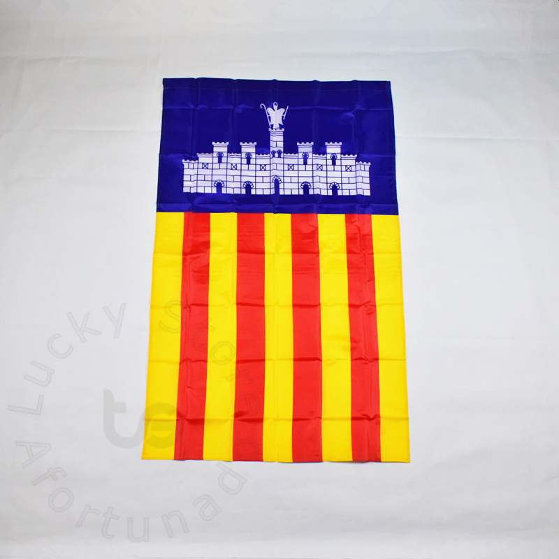 Castle 90*150cm Catalonia flag Banner Free shipping