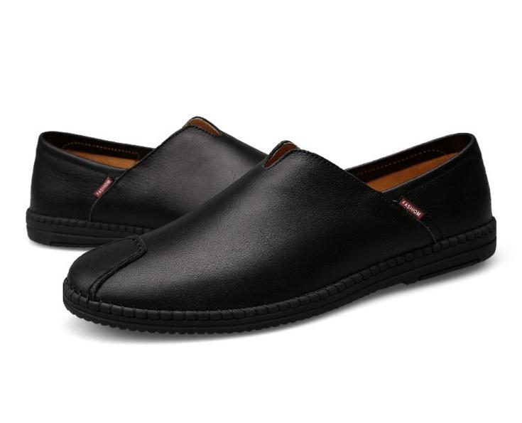 Couro Retro Preguiçosos Brown black Sapatos Cyabmoz Dos Genuíno Sapato Yellow Alta Feitos Mocassins Brown Qualidade De Mão Homens Apartamentos red Hombre Suave Zapatos À Condução nOYwOf7F4