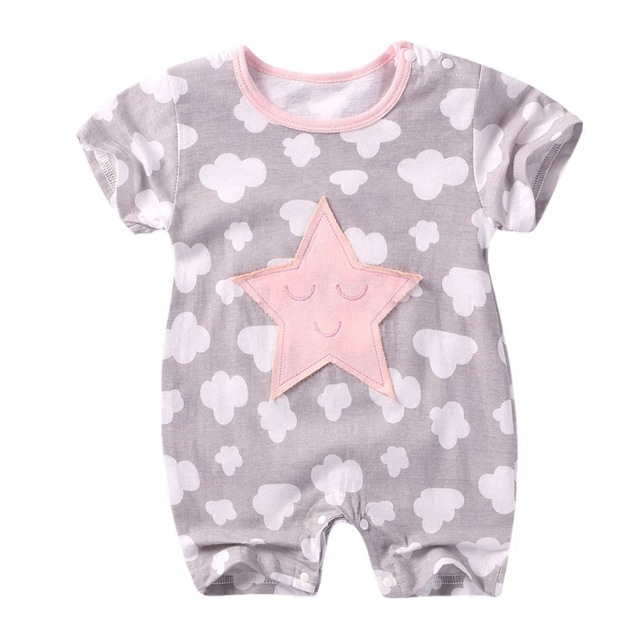 2019 Summer Baby clothes newborn baby rompers Short sleeve Baby Boy Girl clothes cotton baby Jumpsuit roupa de bebes