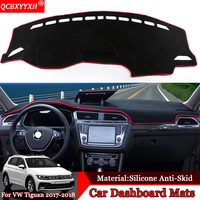 QCBXYYXH Car styling Car Dashboard Avoid Light Pad Polyester Platform Desk Cover Protective Mats For Volkswagen Tiguan 2017 2018