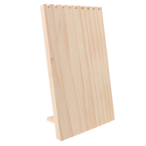 Image 2 - 미완성 된 나무 보석 목걸이 펜 던 트 디스플레이 스탠드 홀더 랙 9 목걸이 목걸이 펜 던 트 체인 팔찌에 대 한 후크