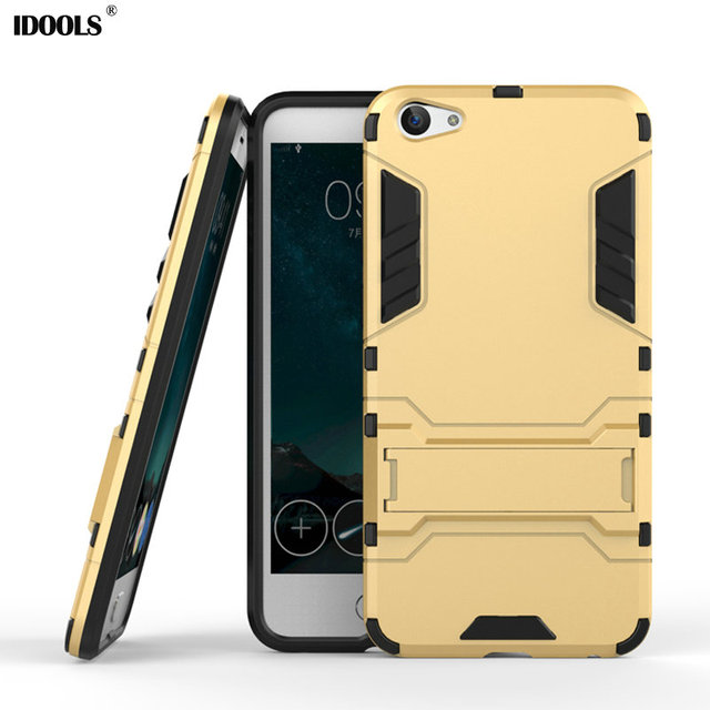 For BBK Vivo X7 Case Cover Silicon Plastic Armor Back Stand Hybric Cases for Vivo X7 Phone Bags Shell Fundas Coque Capa IDOOLS