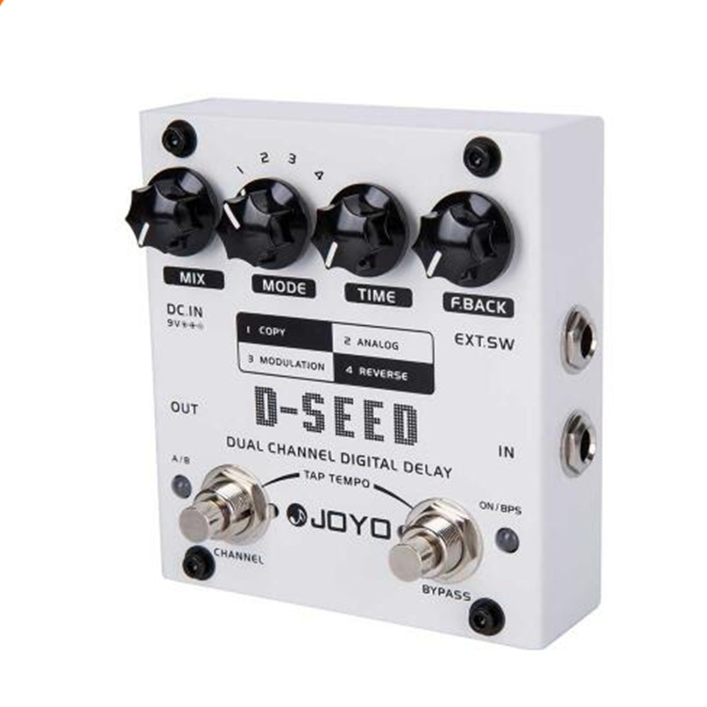 JOYO D-SEED Dual Channel Digital Delay Guitar Accessories Effects Pedal Analog Delay Effects Guitarra Stompbox True Bypass joyo jf 09 tremolo guitar effects pedal analog effects stompbox intensity rate knobs adjustable true bypass distinctive sounds