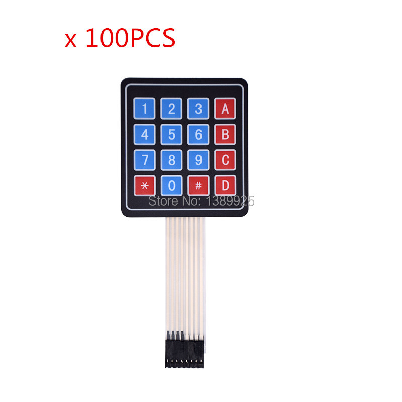 100PCS New 4*4 Matrix Array/Matrix Keyboard 16 Key Membrane Switch Keypad