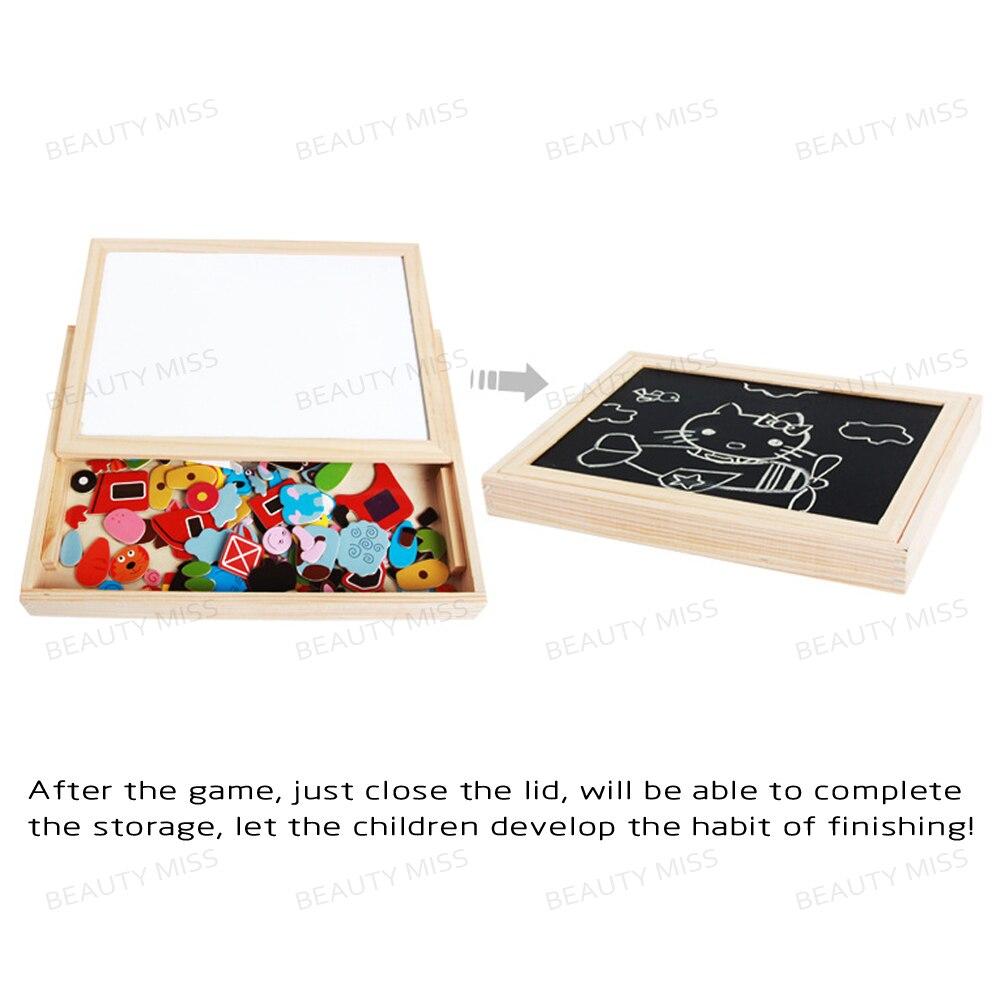 Puzzles placa de cavalete magnético jigsaw Material : Madeira