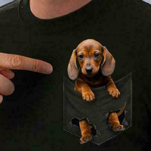 Dachshund In Pocket Men T-Shirt Cotton S-6XL Men Women Unisex Fashion Tshirt Free Shipping