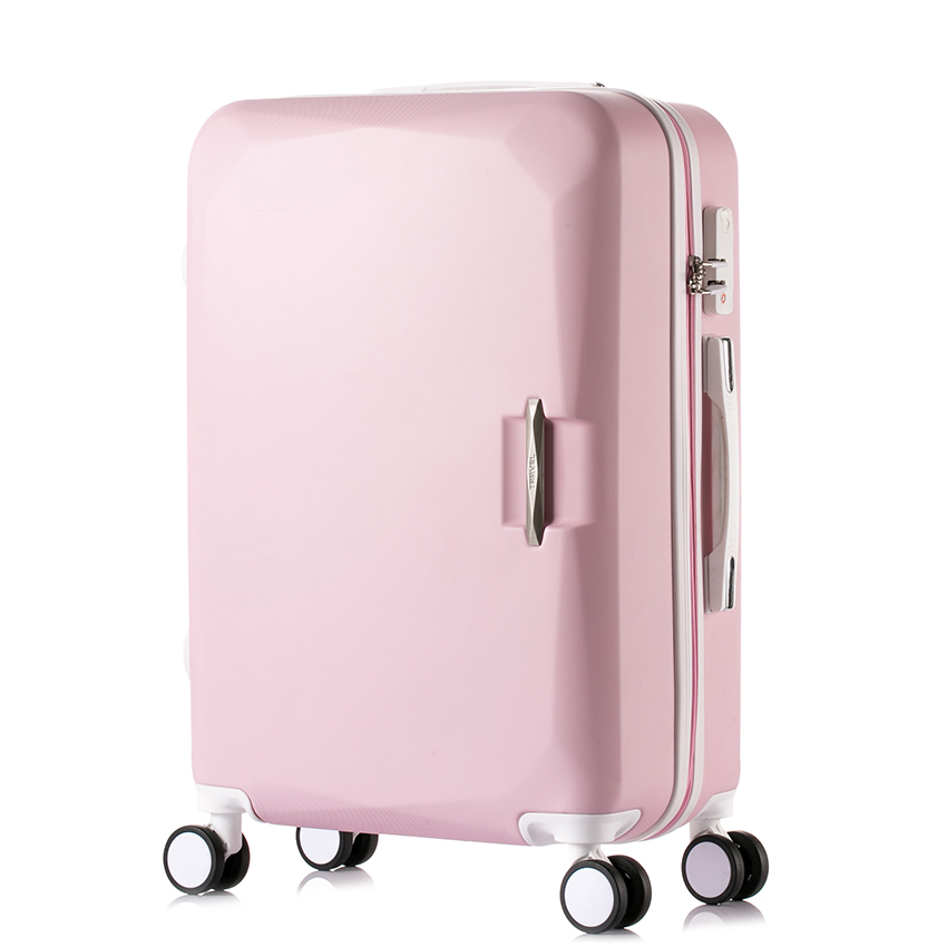 14202224 carry-on Suitcase with wheels Girl and kids pink luggage travel bag trolley bag ...