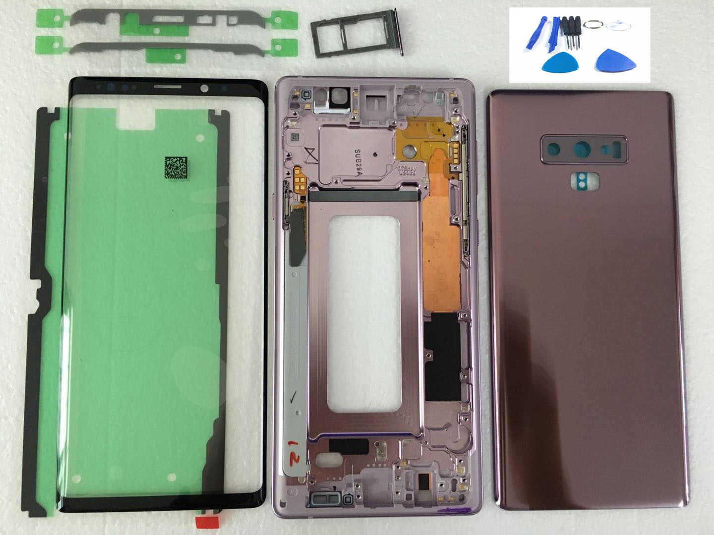 N9 Full Housing Case Back Cover Front Screen Glass Lens + Medium Frame For Samsung Galaxy Note 9 N960 N960F Replace all part