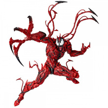 16CM Marvel Red Venom Carnage In Movie The Amazing Spiderman BJD Joints Movable Action Figure Model Toys play arts spiderman venom figure red limited ver model toys 10 25cm