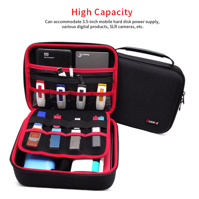 Image 2 - Large Size Electronic Gadgets Storage Case Bag Travel Organizer Case For HDD USB Flash Drive Data Cable Digital Storage Bag-in Bags from Consumer Electronics