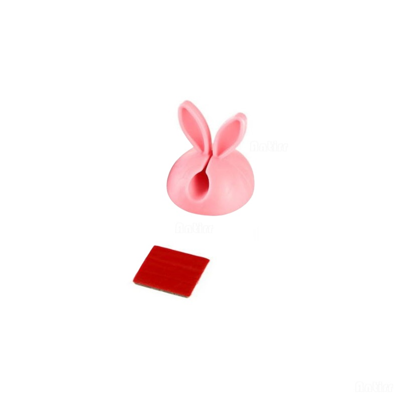 4pcs Cute Rabbit Ears Cable Winder Collation Holder Bunny Charger Wire Cord Organizer Clip Tidy Desk Earphone Fixer Bobbin Clamp Consumer Electronics Cable Winder