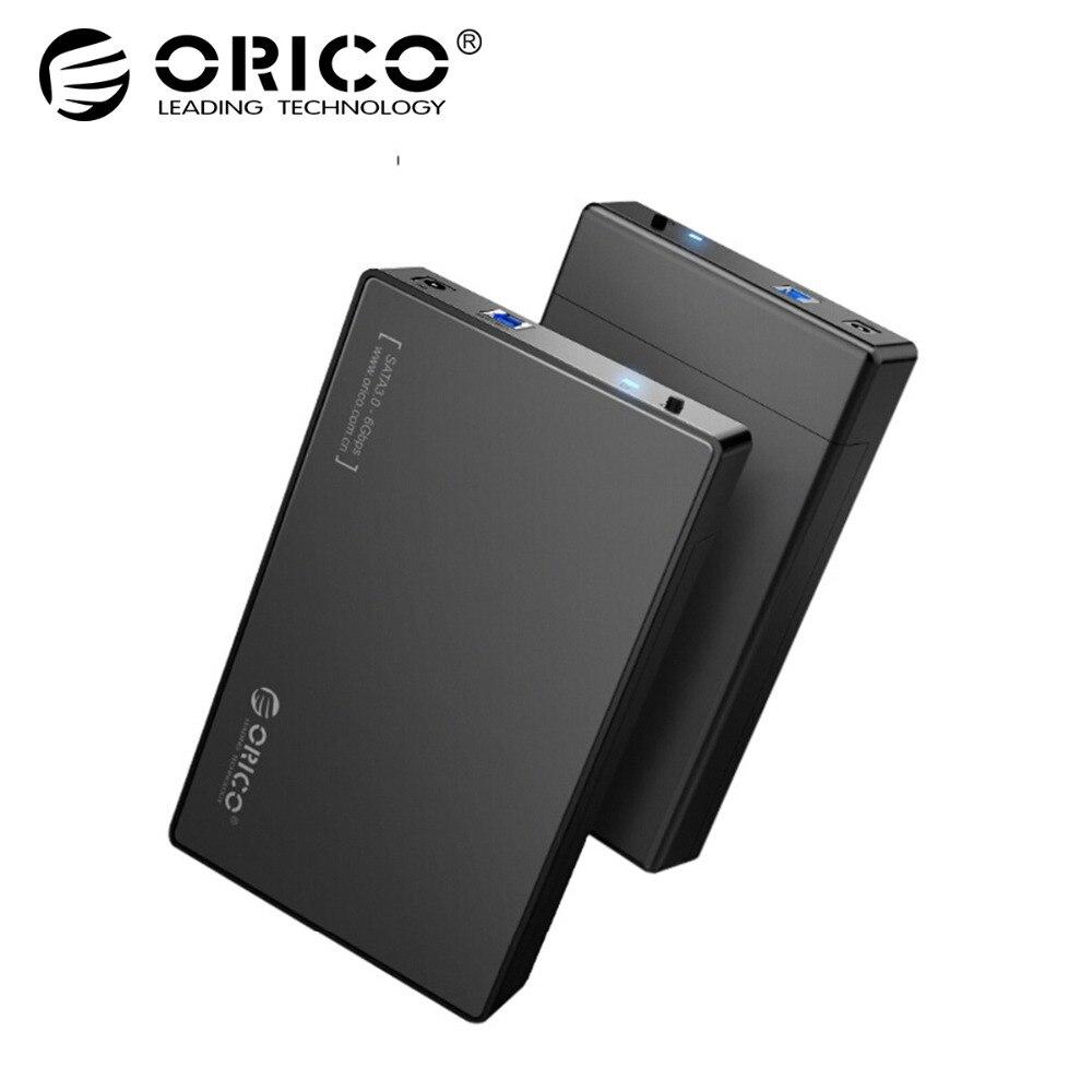 ORICO HDD caso 3,5 pulgadas herramienta libre SATA a USB 3,0 adaptador SSD Disco Duro HDD externo para 2,5 3,5 pulgadas HDD SSD