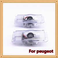 2 uds para Peugeot 508, 408, 308, 3008, 4008, 5008 CRZ logotipo proyector de luz led para coche para puerta de la lámpara con luz de la luz del coche