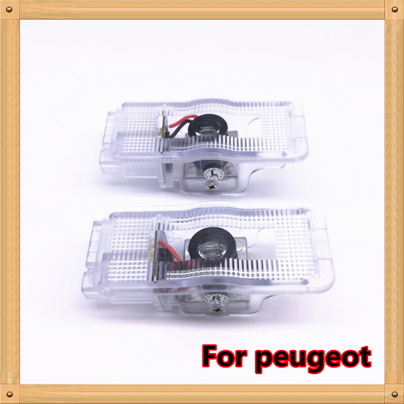 2pcs For <font><b>Peugeot</b></font> 508 408 308 <font><b>3008</b></font> 4008 5008 CRZ <font><b>LED</b></font> logo car door <font><b>light</b></font> projector lamp laser welcome <font><b>light</b></font> car <font><b>light</b></font> image