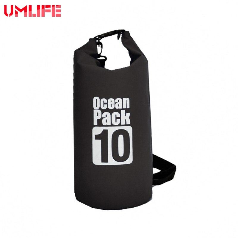 7Color 500D PVC Tarp Trekking Drifting Seal Rafting 10L Bag Double Straps Ocean Pack  Outdoor Waterproof Bag Dry Bag
