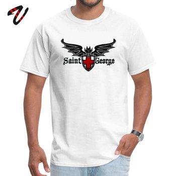 Camiseta de Saint George Dragon para hombre, camiseta barata, regalo de manga...