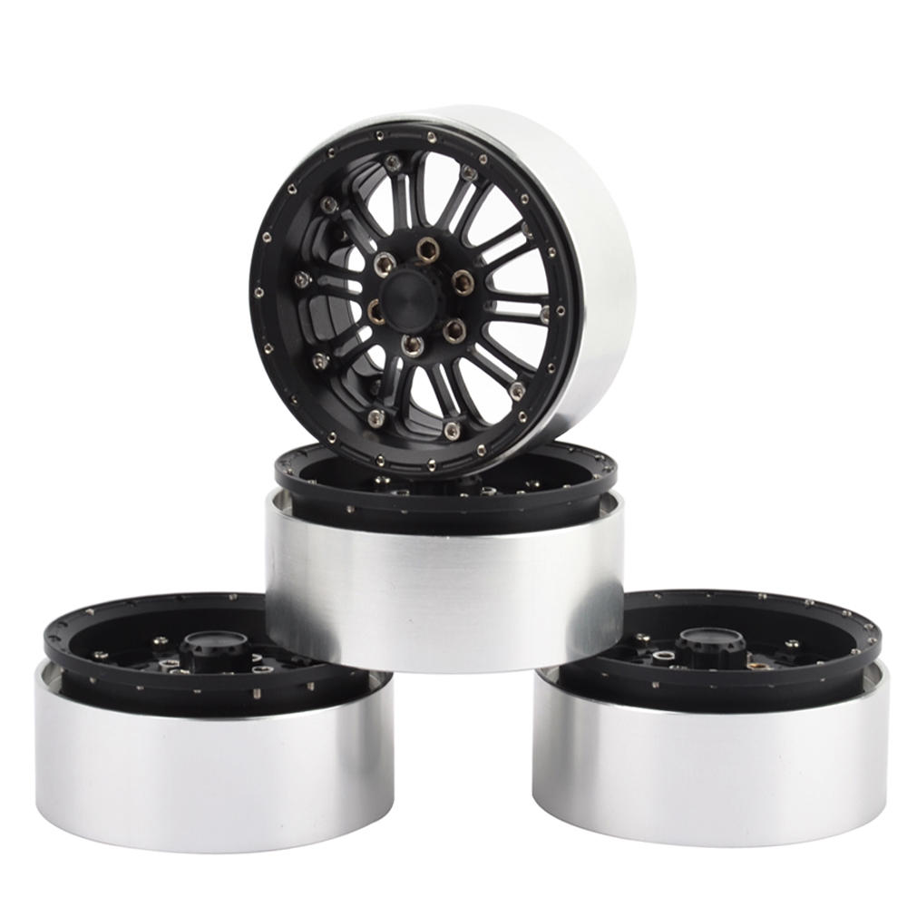 4PCS 1/10 RC Crawler 2.2 inch Aluminum alloy Beadlock Wheel Rims for Axial Rock Crawler RC Car mxfans rc 1 10 2 2 crawler car inflatable tires black alloy beadlock pack of 4