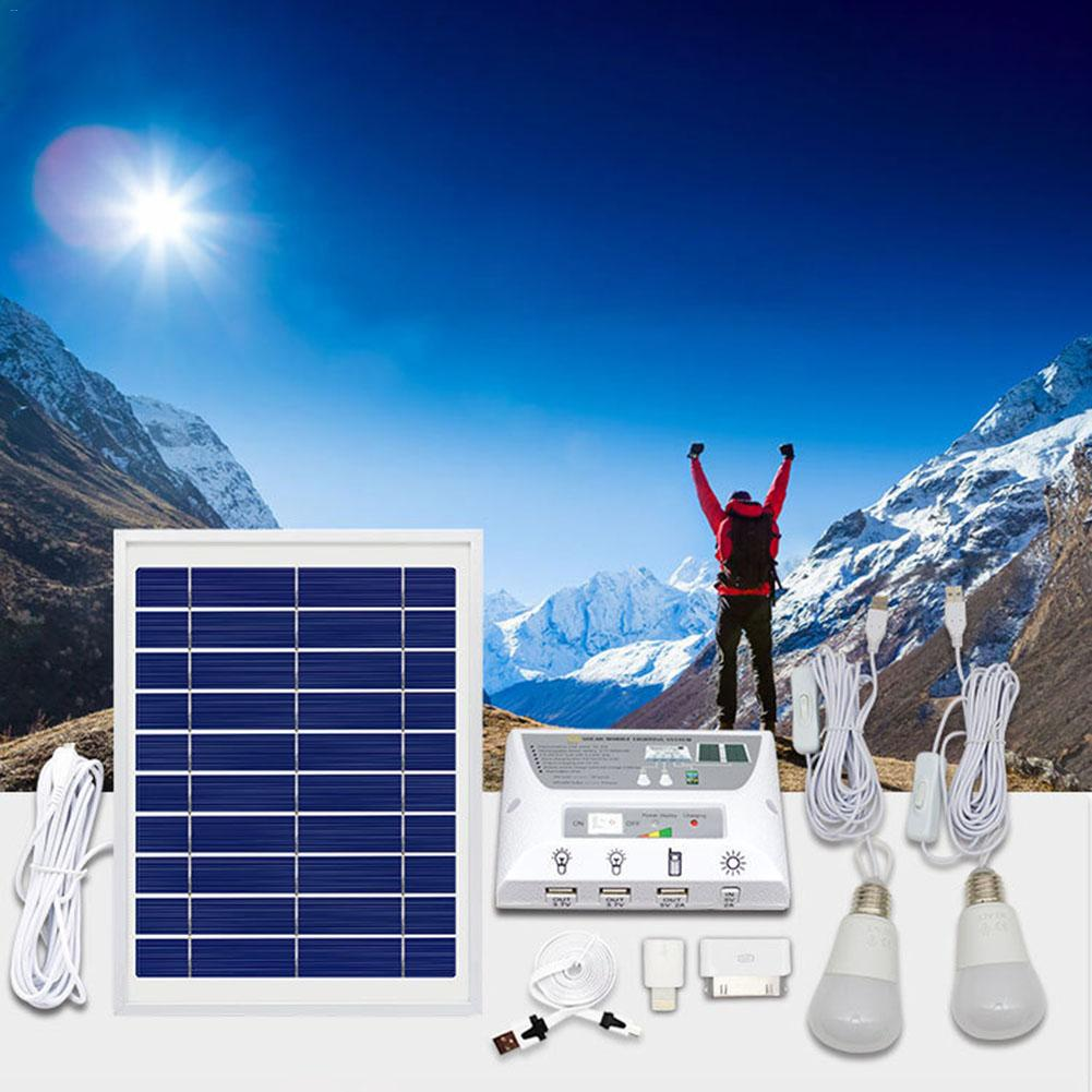 Solar Power Generation System Lighting Super Bright LED Phone Charging Photovoltaic Power Generation Component Dropship 6.19 quinn acoustics q62 component system
