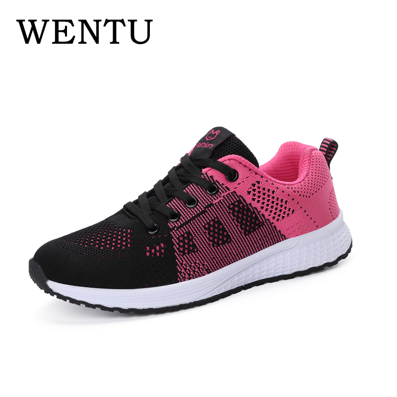 WENTU Women's Tennis 2018 Black Female <font><b>Shoe</b></font> Designer Luxury Women <font><b>Shoes</b></font> Breathable Moccasins <font><b>Championes</b></font> chaussures femmes