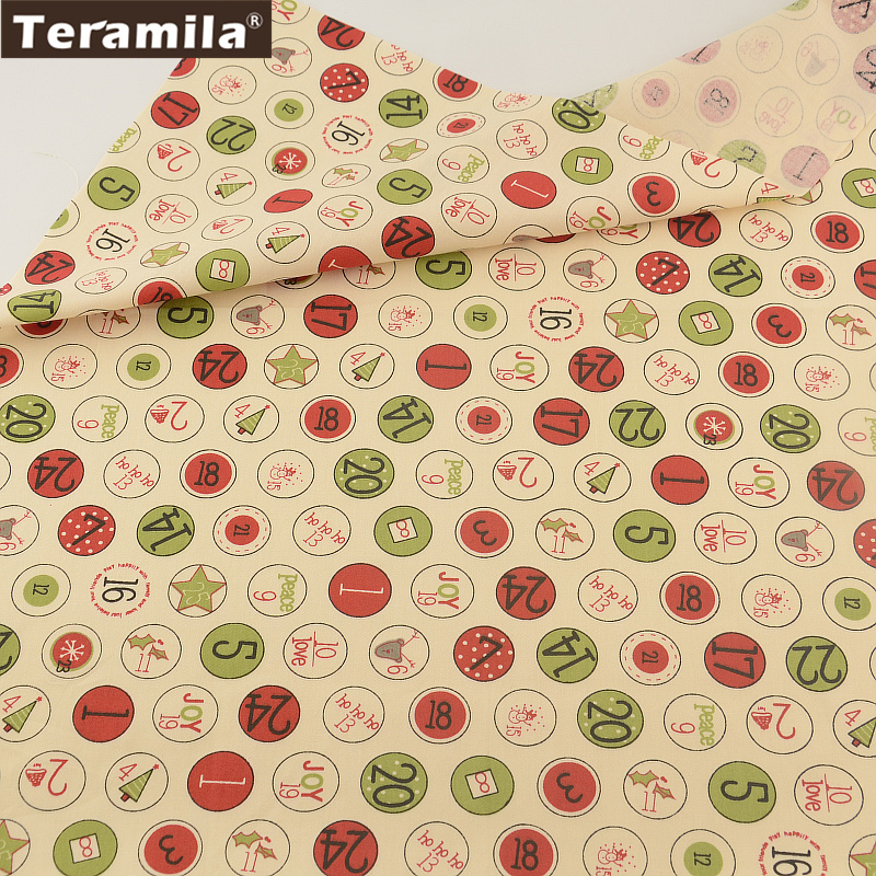 100% Cotton Fabric Beige Digital Circle Designs TERAMILA Twill Fat Quarter Home Textile Material Bed Sheet Patchwork Quilting