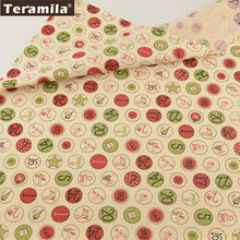 100% Cotton Fabric Beige Digital Circle Designs TERAMILA Twill Fat Quarter Home Textile Material Bed Sheet Patchwork Quilting(China)