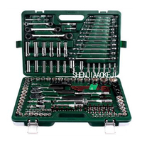 The whole system of 150pcs/set Repair car repair tool kit Ratchet wrench set Multi function portable car care toolbox