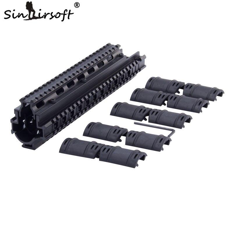 SINAIRSOFT FN FAL Quad Rail 2 pièces Quick Fit métal Quad-Rail Handguard (système) pour Airsoft AEG fusil Picatinnny MNT-T981