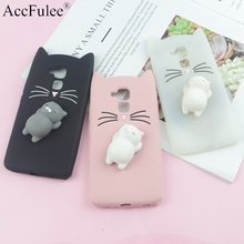3D Cute Japan Glitter Bearded Cat Case For Huawei Honor 5C /