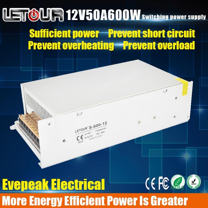 12V 50A 600W Power Supply AC 96V-240V Converter Adapter DC 12V50A LED Power Supply for LED Lighting,LED Strip,CCTV,CE/FCC Cert led power supply 5v 30a ac 96v 240v converter adapter dc 5v30a 150w power supply for led lighting led strip cctv ce fcc cert