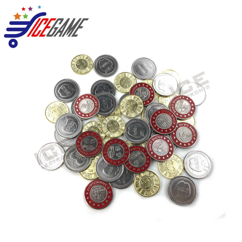 200pcs amusement Game Tokens 25*1 85mm Stainless steel