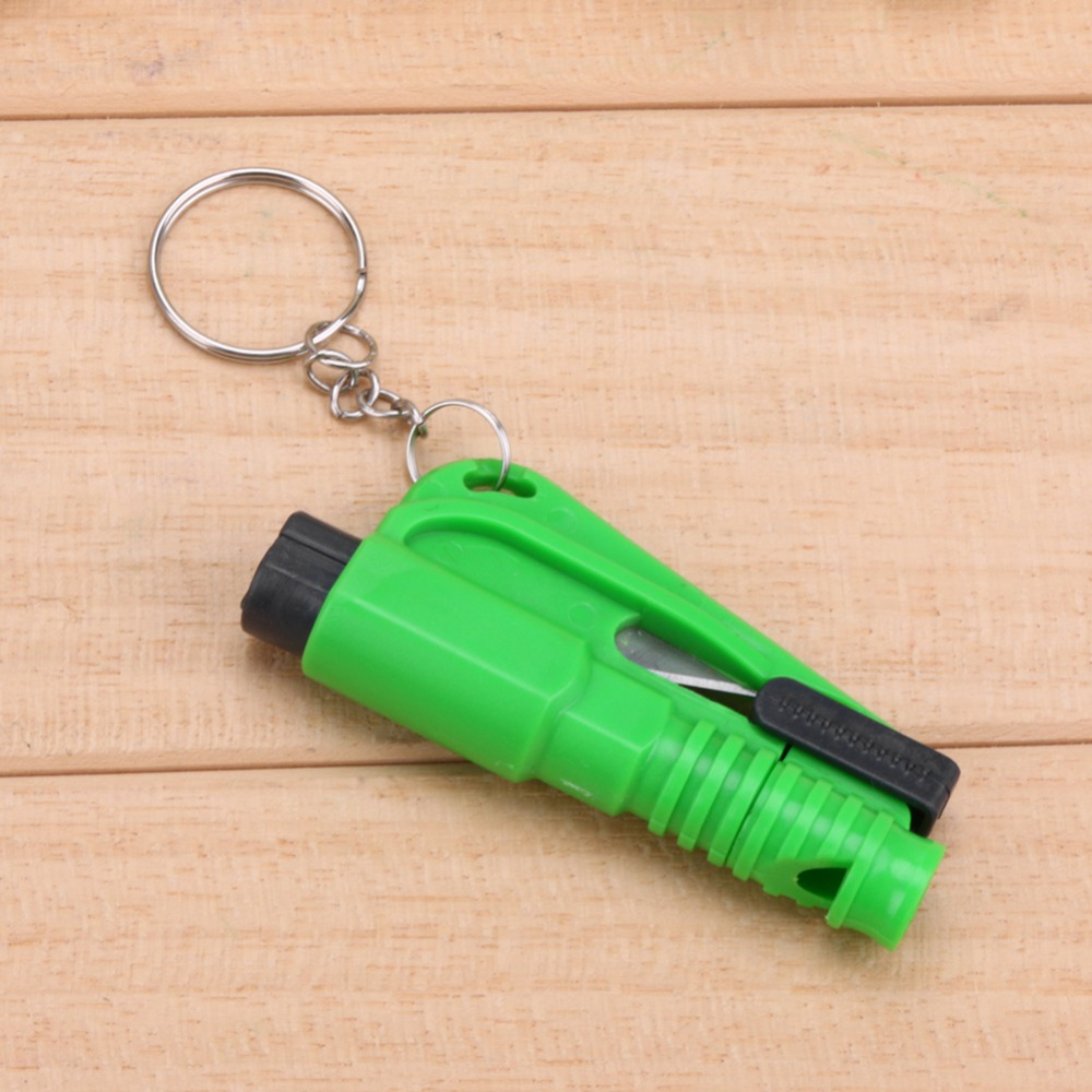 Car Keychain Emergency Rescue Tool with Hammer & Knife 1