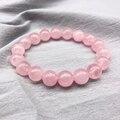 Оптовая продажа; Цвет розовый, розовый порошок кристалл Кварцевый и из натурального камня Streche браслет эластичный шнур Pulserase бусины для ювел...