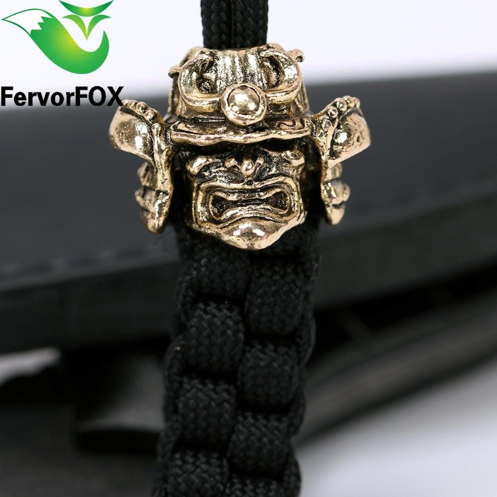 Nuevo estilo de metal perlas para bricolaje pulseras paracord cuchillo linterna cordones colgante accesorios
