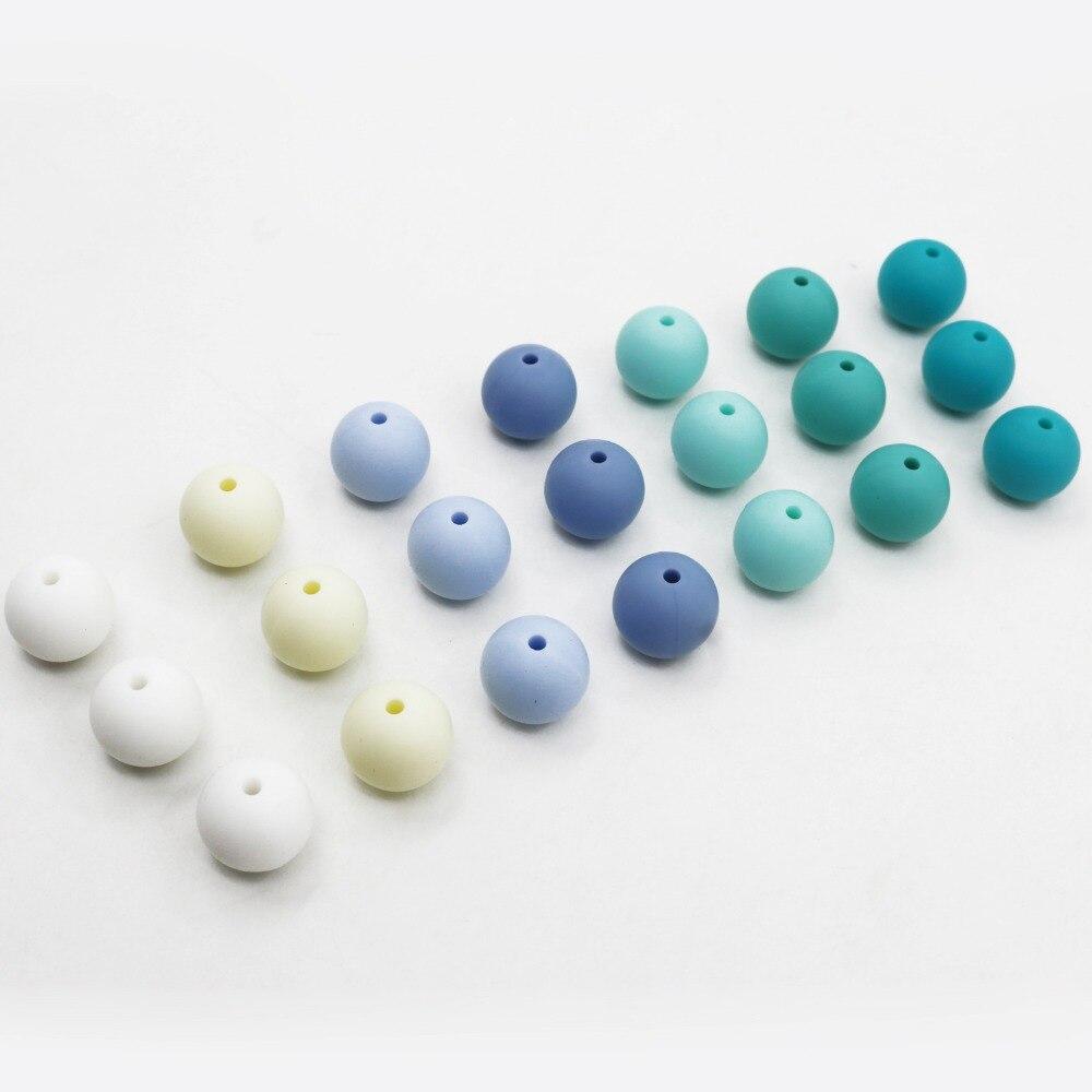 Очень много ярких цветов детские бусы цвета прорезывания зубов шарики ребенок жевательные FDA Сейф прорезывания зубов 100 шт./лот DIY ювелирных ...