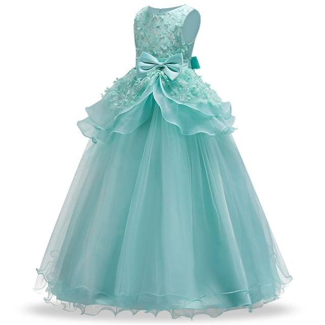 4 15y Teenage Wedding dress Kids Flower Girl Dress elegant Princess ...