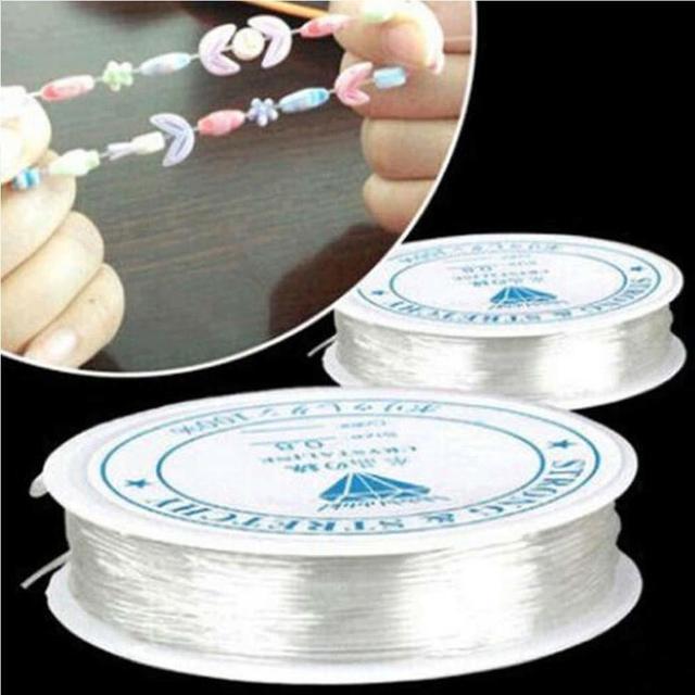 DIY вереница катушки Прозрачный нейлон лески с эластичной рыболовная леска Бисер ткачество 4 м 5 м 8 м 11 м 15 м 18 м 24 м лески
