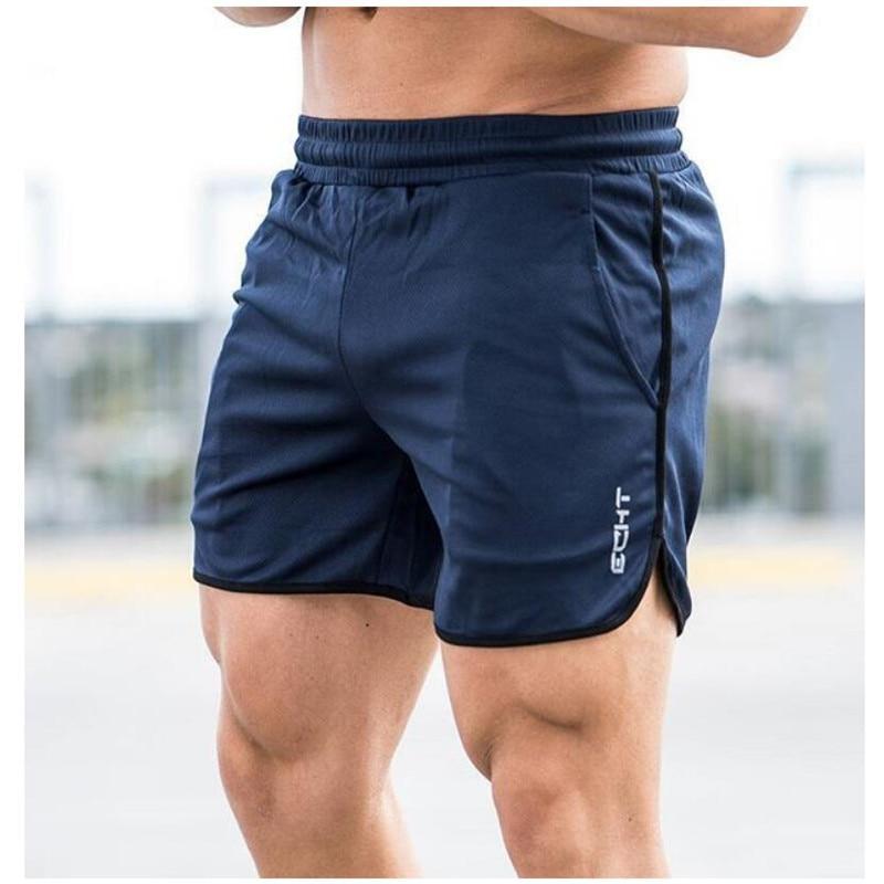 3c0988a9c6 Novos Ginásios Esportivos Shorts homens bermuda Curta dos homens homme 4  Modelos da marca de roupas Casuais Carta Cintura Elástica Calções Ginásios  - DEVUP.