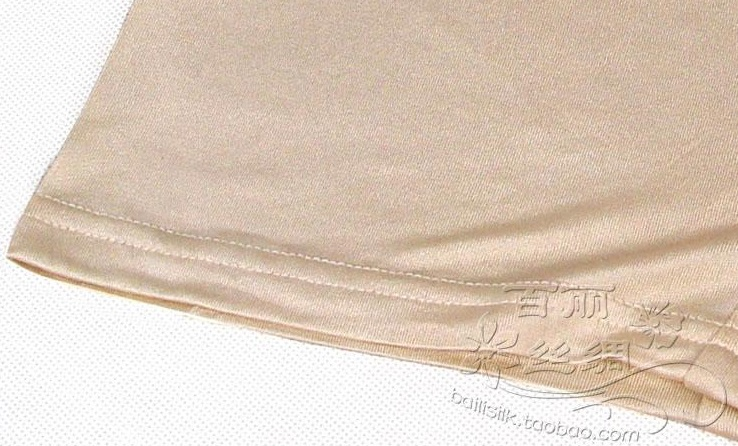 Silk antibiotic breathable female double faced knitted large panties silk incarcerators trunk