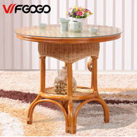 WFGOGO Furniture Rattan Garden Outdoor Tables Pure Hand Weaving Outdoor Stack Tables Weather Outdoor Patio Coffee