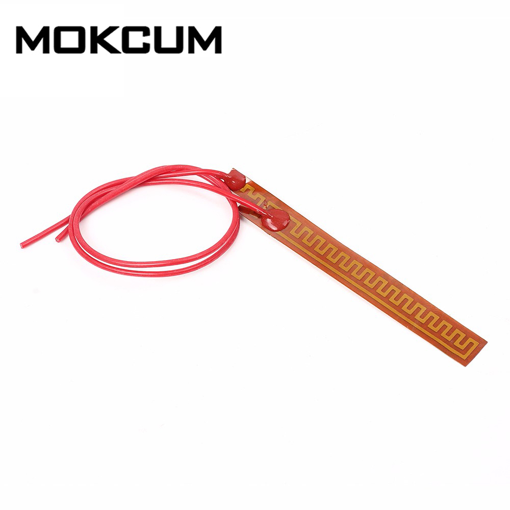 10mmx93mm 12V 12W PI Polyimide Electrotherma Heating Film Plate Heated Heater Membrane Tape Plate Fast Preheating