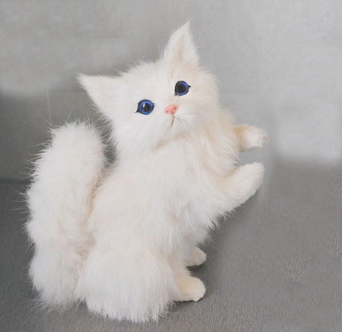 online shop free shipping lucky cat charms cat figurine fur animated