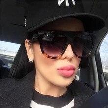 Woman oculos Flat Top Big Mirror Sun Glasses Eyewear gafas de sol Cat Eye